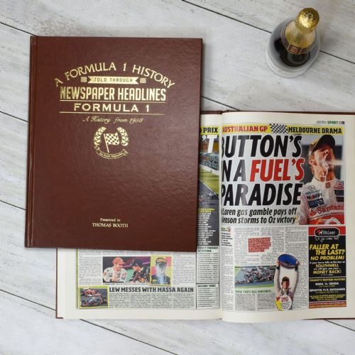 Personalised A4 Formula One Newspaper Book